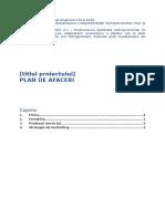 Programul Operaţional Regional 2014- plan de afaceri