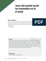 Los avatares del control social y el orden normativo en la realidad social