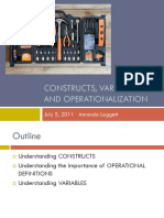 7 5 Constructs Variables and Operationalization