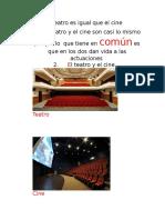 El Teatro Es Igual Que El Cine