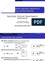 A Fast Augmented Lagrangian Algorithm for Learning Low-Rank Matrices