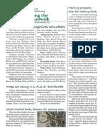 April 2010 Along the Boardwalk Newsletter Corkscrew Swamp Sanctuary