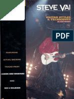 Steve Vai Guitar Styles & Techniques - Guitar Signature Licks