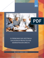 15 Problemas Que Afectan La Ejecución de Proyectos Por Administración Directa - Oscar Chariarse