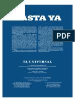 Comunicado El Universal - GDA