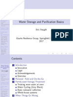 Water Storage and Purification Basics- Slides