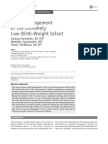 Initial Management of the Extremely Low-Birth-Weight Infant