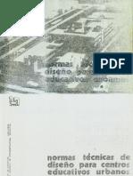 Normas Técnicas Para El Diseño de Locales de Educación Básica Regular Primaria Secundaria 1983