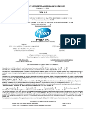 10 K Pfizer _2016 | Form 10 K | Pfizer