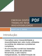 Energia Disponível Trabalho Reversível e Irreversibilidade