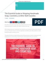 The Essential Guide to Shipping Handmade Soap