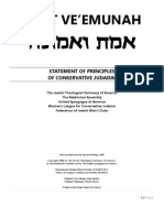 emet ve'emunah - statement of principles of conservative judaism