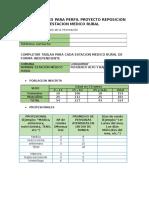 Antecedentes Para Perfil Proyecto Reposicion Estacion Medico Rural Nueva Informacion