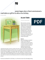 Accent Table - Canadian Woodworking Magazine