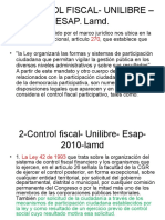 Control Fiscal- Unilibre –Esap