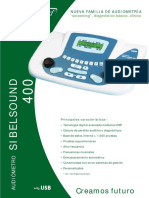Audiómetro Sibelsound400. Boente