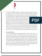 COCA-COLA Case Analysis (Aws)