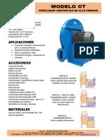 Airtec Ventiladores Industriales Centrifugos CT