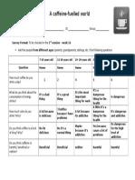 Survey Format - Homework