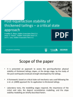 Post-liquefaction stability