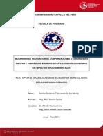 Mecanismo de Regulación de Compensaciones a Comunidades