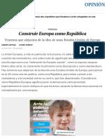 Construir Europa como República | Opinión | EL PAÍS