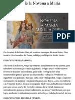 Cuarto Día de la Novena a María Auxiliadora