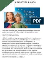 Quinto Día de la Novena a María Auxiliadora