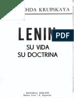 Nadiezhda Krupskaya Mi Vida Con Lenin