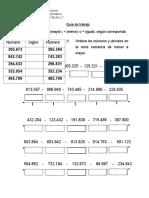 Comparacion y Recta Numerica