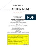 Baron, Cours d'Harmonie