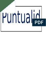 Poster Puntualidad
