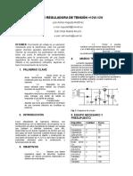 Proyecto Electrónica 1 - Fuente Reguladora DC