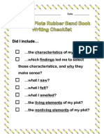 3rd - outdoor plots student writing checklist