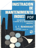 Administracion de Mantenimiento Industrial E.T NEWBROUGH PDF