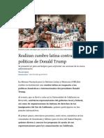 Realizan cumbre latina contra políticas de Donald Trump