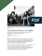 Venezolanos de luto en Los Ángeles