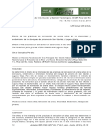 Efecto de las prácticas de extracción de arena sílice en la diversidad y endemismo de los bosques de pinares de San Ubaldo y Laguna Vieja Omar Cosío-González