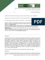 Suspensión de la lámina de agua en el arroz (Oryza sativa L.) por trasplante Yoel Gonzáles Gonzáles, Michel Ruiz Sánchez, Yaumara Muñoz Hernández