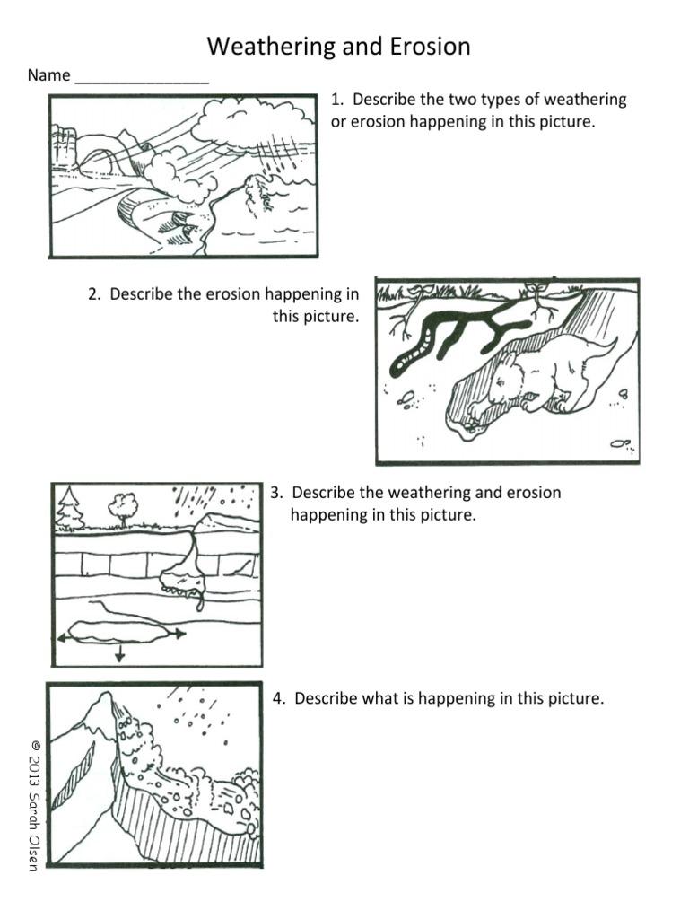 Worksheet Weathering And Erosion Worksheet Worksheet Fun Worksheet