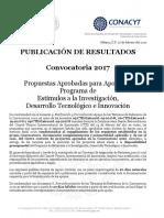 1A Publicación Resultados 2017