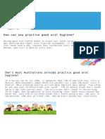 parent newsletter - oral health