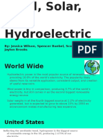 wind solar and hydroelectric energy