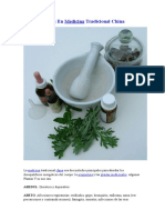 Plantas Usadas en Medicina Tradicional China