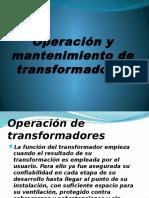Operación y Mantenimiento de Transformadores