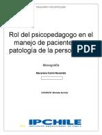 Monografia Rol Del Psicopedagogo y Patologias