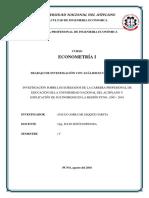 Trabajo Econometría PDF