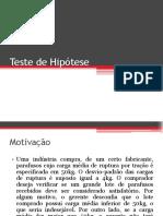 6 – Teste de Hipótese