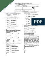 Examen CTA 4to - Unidad 1