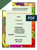 Trabajo de Investigación Vitaminas